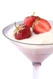 Erdbeerenachtisch Lizenzfreies Stockfoto