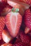 Erdbeerenachtisch Lizenzfreie Stockbilder