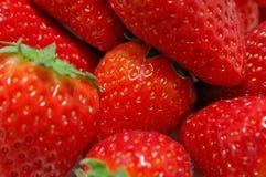 Erdbeerenahaufnahme Lizenzfreie Stockbilder