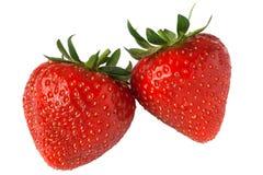 Erdbeerepaare Lizenzfreies Stockfoto
