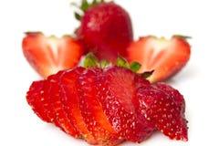 Erdbeerescheiben Stockfoto