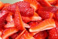 Erdbeerescheibeschnitt Stockfotografie