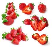 Erdbeereset Stockfotografie