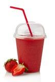 Erdbeeresmoothie Stockfoto