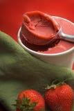 Erdbeeresorbet Stockbilder