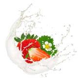 Erdbeerespritzen Lizenzfreie Stockfotos