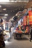 Erdbeereverkäufer im Souk von Marrakesch Stockbild