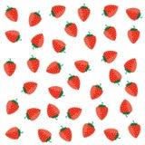 Erdbeerfarbroter Vektor auf einem Weiß Stockbild