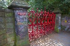 Erdbeerfeld in Liverpool Stockfotos