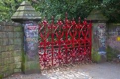 Erdbeerfeld in Liverpool Stockbild