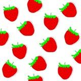 Erdbeerfreihandzeichnenzeichnungshintergrund Lizenzfreies Stockbild