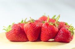 Erdbeerfrische Frucht Stockbild