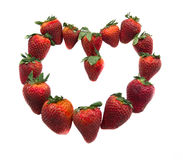 Erdbeerinneres Lizenzfreies Stockfoto