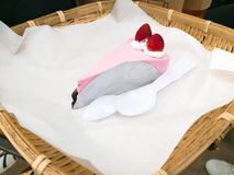 Erdbeerjoghurtkuchen Lizenzfreie Stockbilder