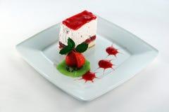 Erdbeerkäsekuchen Stockfoto