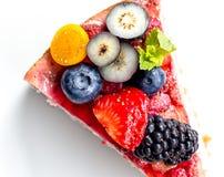 Erdbeerkäsekuchen Lizenzfreie Stockfotos