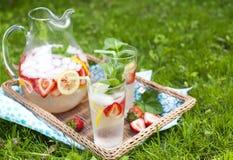 Erdbeerlimonade Stockbild