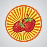 Erdbeerlogo Lizenzfreies Stockfoto