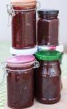 Erdbeermarmelade rüttelt selbst gemachtes lizenzfreies stockfoto