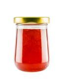 Erdbeermarmeladenmarmelade im Glasgefäß Lizenzfreie Stockbilder