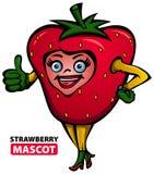 Erdbeermaskottchen Lizenzfreies Stockbild