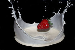 Erdbeermilch Lizenzfreies Stockfoto