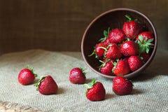 Erdbeernatürliches gesundes Nahrungsbiologisches lebensmittel Lizenzfreie Stockfotografie