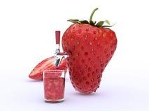 Erdbeersaft stock abbildung