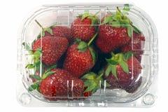 Erdbeersatz lokalisiert mit einem Beschneidungspfad Lizenzfreie Stockfotografie