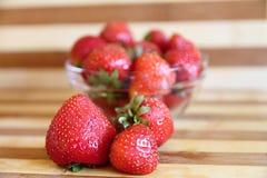 Erdbeerschüssel Lizenzfreie Stockfotos