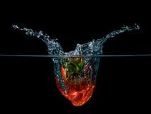 Erdbeerspritzen Lizenzfreies Stockfoto