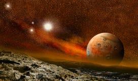 Erde ähnliche Planetenlandschaft Lizenzfreie Stockfotografie