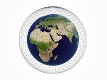 Erde über Weiß Lizenzfreies Stockbild