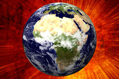 Erde 3D/Afrika Lizenzfreie Stockfotografie