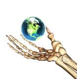 Erde 3D in der Hand Stockfotos