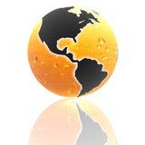 Erde 3d mit Farbenbeschaffenheit Stockfotos