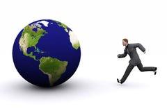 Erde 3d und Mann lizenzfreies stockbild