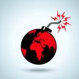 Erde als Bombe Stockbild