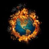 Erde auf Feuer stock abbildung