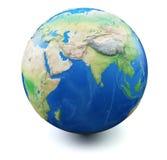 Erde auf weißem Hintergrund Stockbild