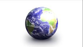 Erde auf weißem schnellem lizenzfreie abbildung