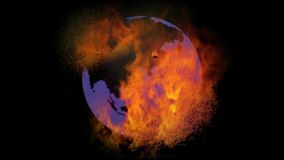 Erde brennend passend zur globalen Erwärmung lizenzfreie abbildung