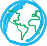 Erde in den Linien Stockfoto