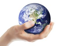 Erde in der Hand Stockfoto