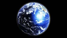 Erde in der Palme stock abbildung