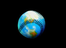 Erde des ledernen Baseballs Lizenzfreies Stockfoto