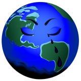 Erde, die mit Schmierölrissen schreit Lizenzfreies Stockfoto