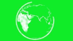 Erde, die skizziert wird stock footage
