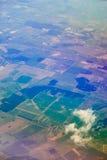 Erde. Draufsicht der Flugzeuge. Stockbilder