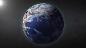 Erde dreht sich stock video